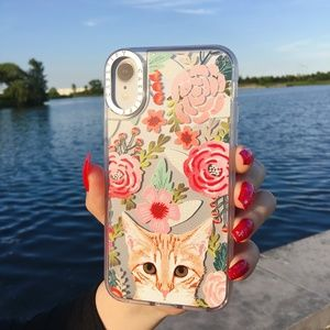 Casetify French Cute Cat Blossoms iPhone Case
